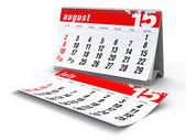 August 2015 - Calendar — Stock Photo