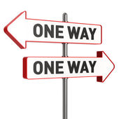 Conflicting One Way Signs — Stock Photo