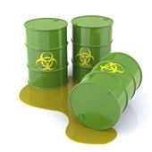 Bio hazard Barrels — Foto Stock