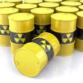 Radioactieve vaten — Stockfoto