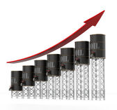 Oil Barrels Chart — Stock Photo