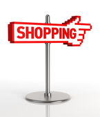 Shopping Sign — Stock Photo