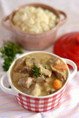 French traditional veal stew blanquette — Stockfoto