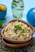 Arabian salad with couscous tabbouleh — Photo
