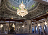 Sultan Qaboos Grand Mosque chandelier — Stock Photo