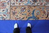 Sultan qaboos Ulu Cami halı detay — Stok fotoğraf