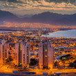Nocturnal panoramic view on Eilat — Stock Photo #49612457