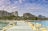 View on central promenade of Eilat — Stock Photo