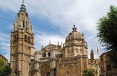 Ancient gothic cathedral in Toledo — Stock Photo