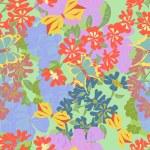 Flowers. butterflies. Seamless — Stock Vector #50041543