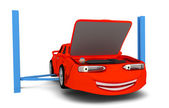 Cartoon car in auto service  — Foto Stock