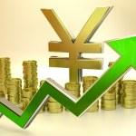 Rise of the yen — Stockfoto #50090161