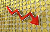 Currency collapse - dollar — Stock Photo