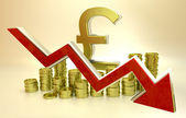 Currency collapse - British Pound — Stockfoto