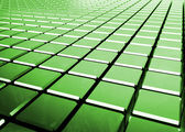 Glossy abstract green background from cubes — Stock Photo