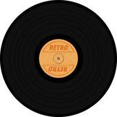 Vinyl texture with retro sign — Stock Photo