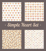 The set of simple heart backgrounds — Stock vektor