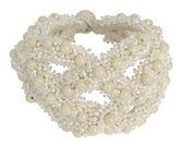 Bracelet from white beads — Stock Photo