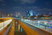 Urban night view of Tel Aviv — Stock Photo