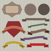 Emblems and ribbons — Stockvektor