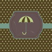 Card with umbrella — Stock Vector