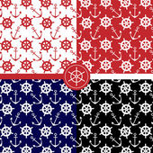 Marine patterns — Stock Vector