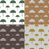 Mönster med paraplyer — Stock vektor