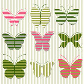 Striped butterfly — Stock Vector