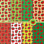 Pole patterns with strawberries — Wektor stockowy