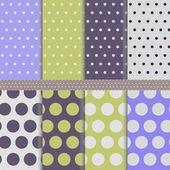 Seamless polka-dots — Stock Vector