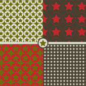 Seamless patterns with stars — Stock Vector