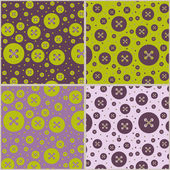 Seamless patterns with buttons — Stock vektor