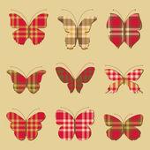 Nine butterflies — Stock Vector