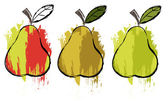 Pears — Stock Vector