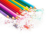 Color pencils set isolated on white background — Stock Photo