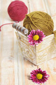 Wool clew for knitting — Stock Photo