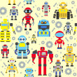 Seamless robots pattern — Stock Vector #50243045