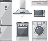 Set of household appliances — Stock Vector