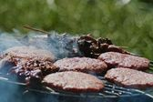 Closeup of grilled food — Stock Photo
