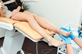 Cleaning of a foot. — Stock Photo