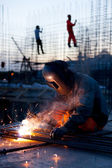 Working welder — Stock Photo