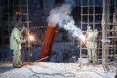 工作焊工 — 图库照片