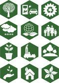 Ekologie ikony — Stock vektor