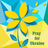 Pray for Ukraine — Stock vektor