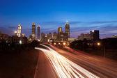 Atlanta skyline at dusk — Stock Photo