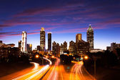 Atlanta downtown at dusk — Stockfoto