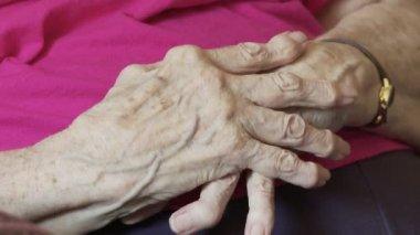 Arthritic Hands — Stock Video
