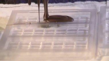 Chocolate Pour Slomo — Stock Video