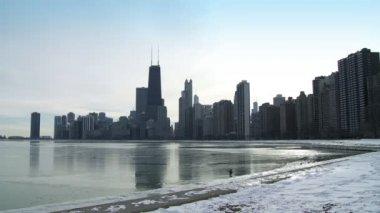 Chicago kış — Stok video