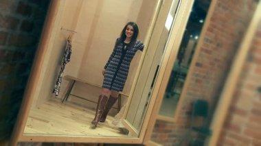 Dressing Room Mirror — Vídeo de stock